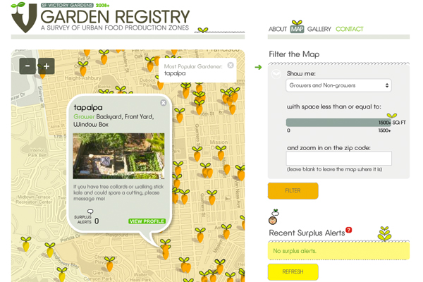 Garden Registry Maps
